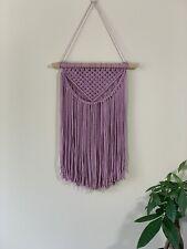 Boho Macarme Wall Hanging Baby Shower Gift Handmade Macrame Décor Hand Made