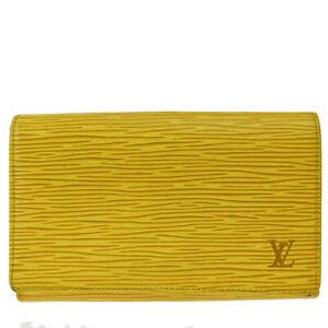 LOUIS VUITTON Tresor Bifold Wallet Purse Epi Leather Yellow M63509 07MI749
