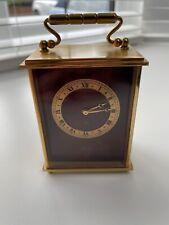 IMHOF SWISS GILT BRASS 15 JEWEL 8 DAY MOVEMENT CARRIAGE CLOCK