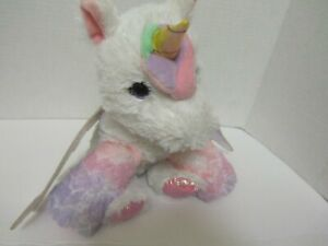 Barbie UNICORN Plush Unicorn  horse  Lights & Talks - Just Play-Mattel