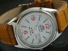 VINTAGE ORIENT AUTOMATIC JAPAN MEN'S DAY/DATE WATCH 432d-a215737-2