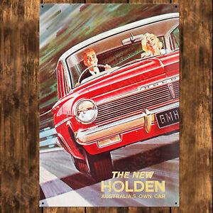 200mm x 285mm ALUMINIUM SIGN - EH HOLDEN - THE NEW HOLDEN
