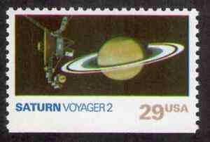 US. 2574. 29c. Saturn, Voyager 2, Space Exploration. MNH. 1991