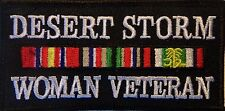 DESERT STORM WOMAN VETERAN EMBROIDERED PATCH - MILITARY - NEW VEST PATCH