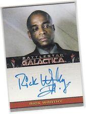 Battlestar Galactica Season 4 (Four) - Rick Worthy - Simon Autograph/Auto Card
