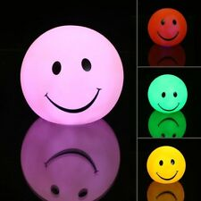 Smile Face Led Night Light Mood Child Bedroom Colorful Night Lamp Home Decor
