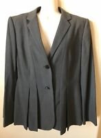 NWT Calvin Klein Gray Lined Collared Pleated Women's Blazer Jacket Size 12