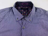 KS829 TED BAKER beautiful printed shirt size 3/M, hardly worn!