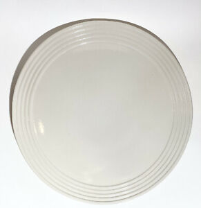 """Pampered Chef - Family Heritage Stoneware - ROUND BEIGE PLATTER - 13.75"""" PERFECT"""