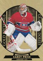 CAREY PRICE NO:G-9 GOLD ETCHINGS in UPPER DECK TIM HORTONS 2020-21
