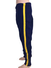 Vintage 1950s/60s Southern Brand Men's Blue Gold Felt Track Athletic Pants Rick
