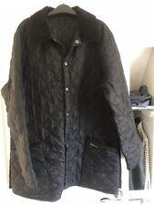 Mens Black Quilted Barbour Jacket - Medium