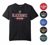 NHL Men's CCM Attacking Zone Tri-Blend Super Soft Vintage Style T-Shirt M - 4XL