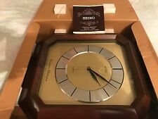 NOS Vintage Seiko Westminster-Whittington Quartz Wall Clock, 2 Chimes New in Box