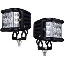 """2X4"""" 90W Cree Side Shooter LED Pods Work Light Bar Combo Driving Reverse Truck"""
