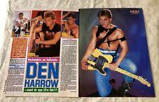 Den Harrow 1987 Clippings Posters Swedish magazine Okej Vintage