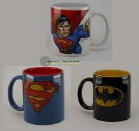NEW Superman or Batman Warner Brothers Super Hero Coffee Cup Mug