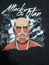 T-Shirt, ATTACK ON TITAN XL Black ANIME SERIES Grinning Grimmace Skull FIERCE!