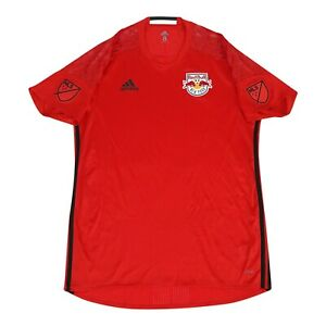 New York Red Bulls MLS Adidas Men's Vivid Red Short Sleeve Goalkeeper Jersey