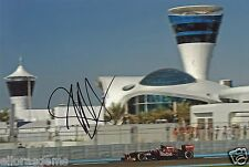 "Formula One F1 Driver Jaime Alguersuari Red Bull Hand Signed Photo 12x8"" P"