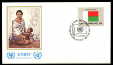 United Nations 1980 Madagascar Flag UNICEF FDC Cover #C11495