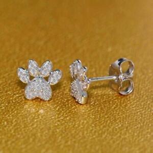 0.15 Ct Round Cut Simulated Diamond 14k Gold Finish Stud Earrings