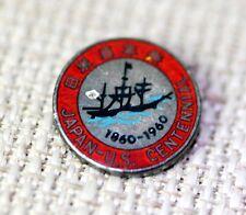 "VTG Sterling Silver Japan – US Centennial Red Enamel Pin 5/8"" – 11402"