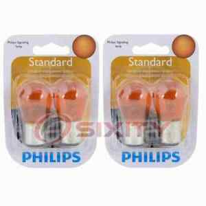 2 pc Philips Front Turn Signal Light Bulbs for Asuna Sunrunner 1992-1993 bk