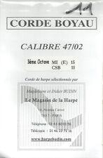 Budin Corde Harpe à pédales 15 E Mi Boyau octave 3 - Celtique Mi 11