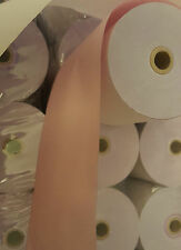 76 x 76mm 2 Ply Kitchen Printer Till Rolls (80 rolls in a box) PINK AND WHITE