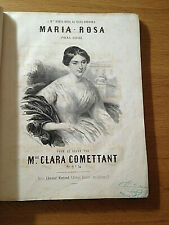 PARTITIONS ANCIENNE MARIA ROSA  CLARA COMETTANT 1850 ENVIRON