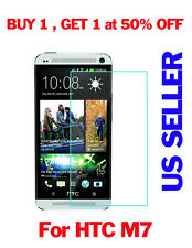 New 9H 0.3MM Real Premium Tempered Glass Screen Protector Film For HTC ONE M7