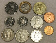 set of 11 different coins from Jamaica