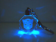 Transformers Autobot Logo Crystal Keychain Keyring Led Light Toy New In Box