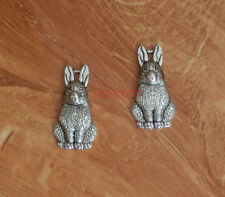 15pcs Rabbit Charms Bunny Hare Animal Charm Antique Silver Tone 26x13mm 0172