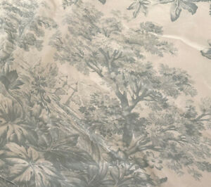 Pottery Barn Collins Cali King Headboard Slipcover MATINE TOILE Linen Cotton HTF