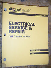 1997 Mitchell Electrical Service Manual Chrysler Plymouth Dodge Jeep Cars Trucks