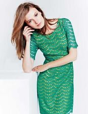 d29ae58c4ce BODEN NWT Summer Lace Dress - Green Yellow - UK 12 R