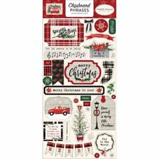 Carta Bella - Christmas Market Collection - Chipboard Stickers - Phrases