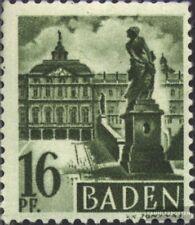 Franz. zona-Baden 6 usado 1947 Sello de correos