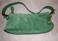 Coach Green Suede Handbag NWOT