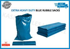 EXTRA HEAVY DUTY BLUE RUBBLE BAGS SACKS BUILDERS BAGS HIGH STRENGTH 30kg+