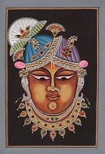 Shrinathji Krishna Hindu Art Handmade Srinathji Spiritual Sreenathji Painting