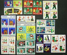 United States, WX Christmas Seal Collection, 1954-65, 42 Stamps, MNH