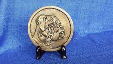 Boxer dog relief medallion sculptures, awards, trophies