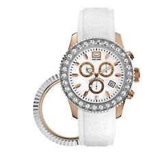 Marc Ecko E18506G4 White Strap Customable Bezel Ladies Watch