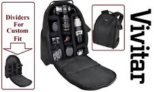 Vivitar Pro Deluxe Backpack Case Camera Bag For Nikon D5500 J1 V1 D5300