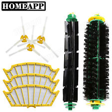 Brushes 3X Filters 3 armed side brushes for iRobot Roomba 500 Series 510 530 531