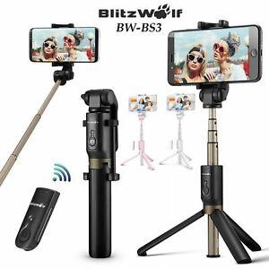 BlitzWolf Bluetooth Remote Control Selfie Stick Tripod Monopod Universal Phone