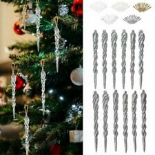 12Pcs Christmas Tree Icicle Hanging Ornaments Home Xmas Party DIY Decoration Hot